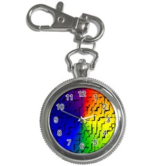 A Creative Colorful Background Key Chain Watches
