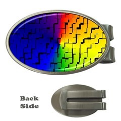 A Creative Colorful Background Money Clips (Oval)