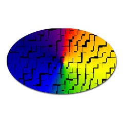 A Creative Colorful Background Oval Magnet