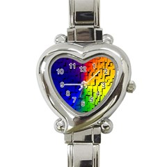 A Creative Colorful Background Heart Italian Charm Watch