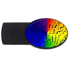 A Creative Colorful Background Usb Flash Drive Oval (4 Gb)