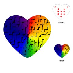 A Creative Colorful Background Playing Cards (Heart)