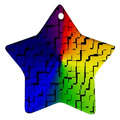 A Creative Colorful Background Star Ornament (Two Sides)