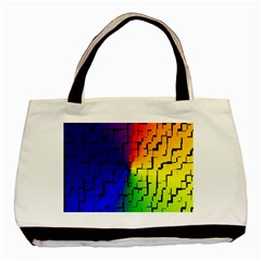 A Creative Colorful Background Basic Tote Bag (two Sides)