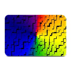 A Creative Colorful Background Plate Mats