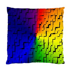 A Creative Colorful Background Standard Cushion Case (one Side)