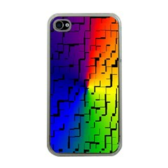 A Creative Colorful Background Apple iPhone 4 Case (Clear)