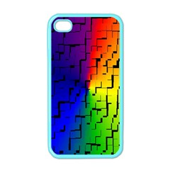 A Creative Colorful Background Apple iPhone 4 Case (Color)