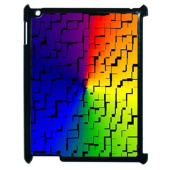 A Creative Colorful Background Apple iPad 2 Case (Black)