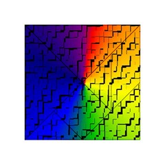 A Creative Colorful Background Acrylic Tangram Puzzle (4  x 4 )