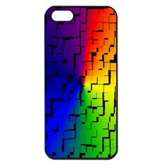A Creative Colorful Background Apple Iphone 5 Seamless Case (black)