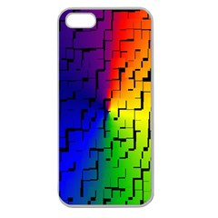 A Creative Colorful Background Apple Seamless Iphone 5 Case (clear)