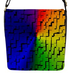 A Creative Colorful Background Flap Messenger Bag (s)