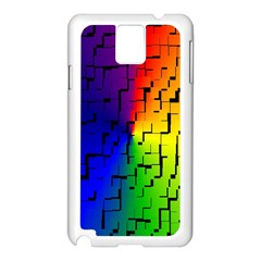 A Creative Colorful Background Samsung Galaxy Note 3 N9005 Case (White)