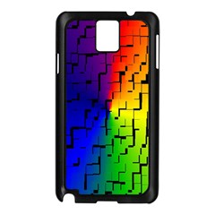 A Creative Colorful Background Samsung Galaxy Note 3 N9005 Case (black)