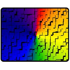A Creative Colorful Background Double Sided Fleece Blanket (medium)