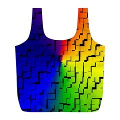 A Creative Colorful Background Full Print Recycle Bags (l)