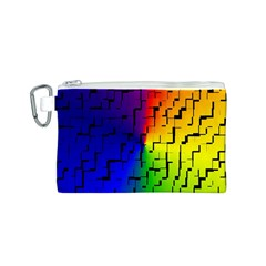 A Creative Colorful Background Canvas Cosmetic Bag (S)