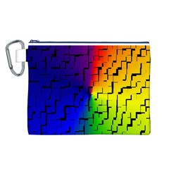 A Creative Colorful Background Canvas Cosmetic Bag (l)