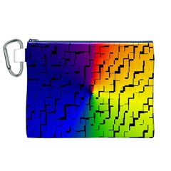 A Creative Colorful Background Canvas Cosmetic Bag (xl)