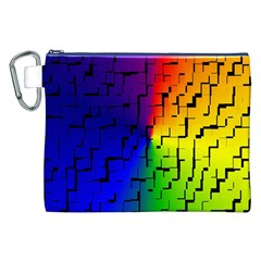 A Creative Colorful Background Canvas Cosmetic Bag (xxl)