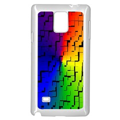 A Creative Colorful Background Samsung Galaxy Note 4 Case (white)