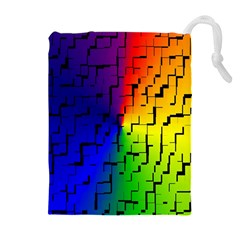 A Creative Colorful Background Drawstring Pouches (Extra Large)
