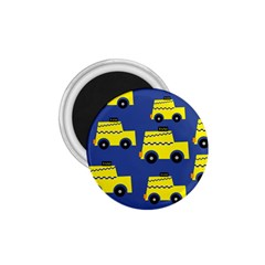 A Fun Cartoon Taxi Cab Tiling Pattern 1 75  Magnets