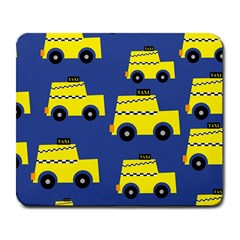 A Fun Cartoon Taxi Cab Tiling Pattern Large Mousepads