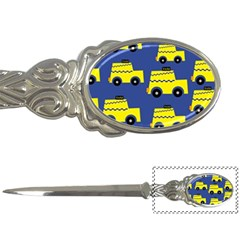 A Fun Cartoon Taxi Cab Tiling Pattern Letter Openers