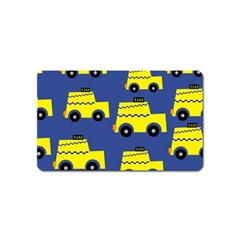 A Fun Cartoon Taxi Cab Tiling Pattern Magnet (Name Card)