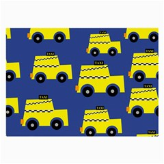 A Fun Cartoon Taxi Cab Tiling Pattern Large Glasses Cloth (2-Side)