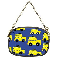 A Fun Cartoon Taxi Cab Tiling Pattern Chain Purses (one Side)