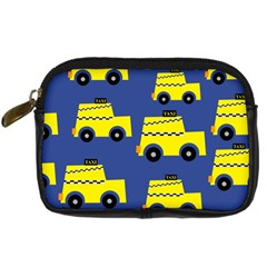 A Fun Cartoon Taxi Cab Tiling Pattern Digital Camera Cases