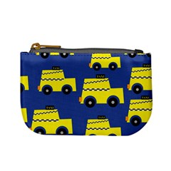 A Fun Cartoon Taxi Cab Tiling Pattern Mini Coin Purses