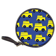 A Fun Cartoon Taxi Cab Tiling Pattern Classic 20-CD Wallets