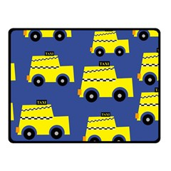 A Fun Cartoon Taxi Cab Tiling Pattern Fleece Blanket (small)