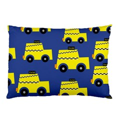 A Fun Cartoon Taxi Cab Tiling Pattern Pillow Case (Two Sides)