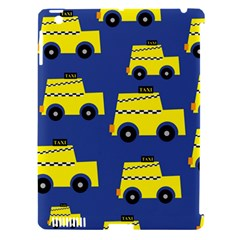 A Fun Cartoon Taxi Cab Tiling Pattern Apple iPad 3/4 Hardshell Case (Compatible with Smart Cover)