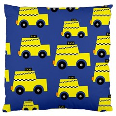A Fun Cartoon Taxi Cab Tiling Pattern Large Cushion Case (Two Sides)