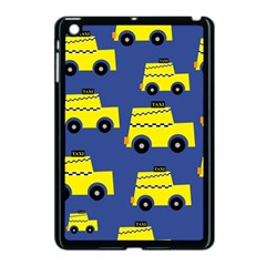 A Fun Cartoon Taxi Cab Tiling Pattern Apple iPad Mini Case (Black)