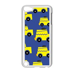 A Fun Cartoon Taxi Cab Tiling Pattern Apple Ipod Touch 5 Case (white)
