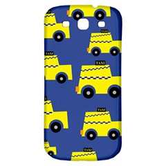 A Fun Cartoon Taxi Cab Tiling Pattern Samsung Galaxy S3 S Iii Classic Hardshell Back Case