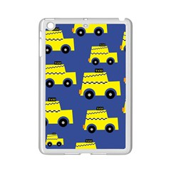 A Fun Cartoon Taxi Cab Tiling Pattern Ipad Mini 2 Enamel Coated Cases