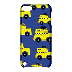 A Fun Cartoon Taxi Cab Tiling Pattern Apple Ipod Touch 5 Hardshell Case With Stand