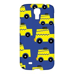 A Fun Cartoon Taxi Cab Tiling Pattern Samsung Galaxy S4 I9500/I9505 Hardshell Case