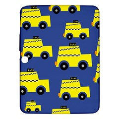 A Fun Cartoon Taxi Cab Tiling Pattern Samsung Galaxy Tab 3 (10 1 ) P5200 Hardshell Case