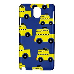 A Fun Cartoon Taxi Cab Tiling Pattern Samsung Galaxy Note 3 N9005 Hardshell Case