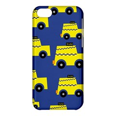 A Fun Cartoon Taxi Cab Tiling Pattern Apple Iphone 5c Hardshell Case