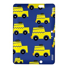 A Fun Cartoon Taxi Cab Tiling Pattern Kindle Fire Hdx 8 9  Hardshell Case